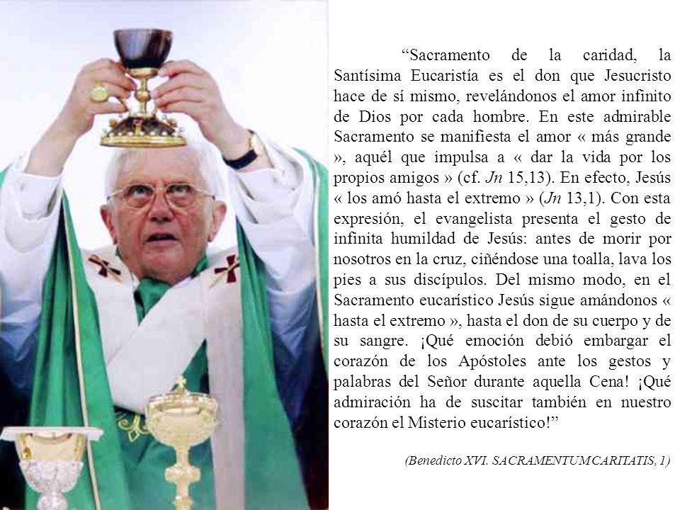 La Eucaristía, presencia salvadora de Jesús en la comunidad de los fieles y su alimento espiritual, es de lo más precioso que la Iglesia puede tener e
