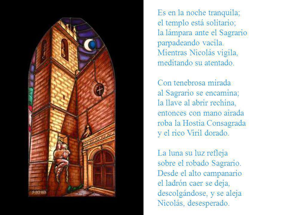 EL NOSTRE SENYOR ROBAT (Sagrada Hostia incorrupta que se conserva en Onil) AÑO 1824 TEMPLO PARROQUIAL DE LA VILLA DE ONIL -ALICANTE- Noche del 5 al 6