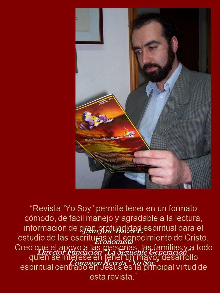 Revista Yo Soy permite tener en un formato cómodo, de fácil manejo y agradable a la lectura, información de gran profundidad espiritual para el estudi