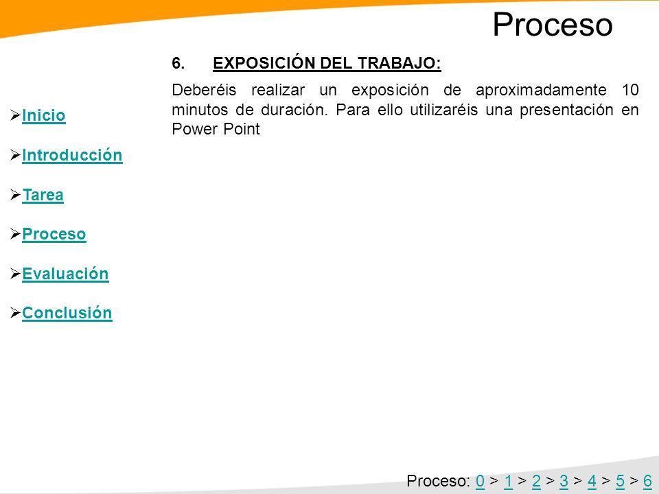 5. CONFECCIÓN DEL INFORME FINAL: Siguiendo el guión indicado en la TAREA se confeccionará el trabajo utilizando la hoja de cálculo y el procesador de