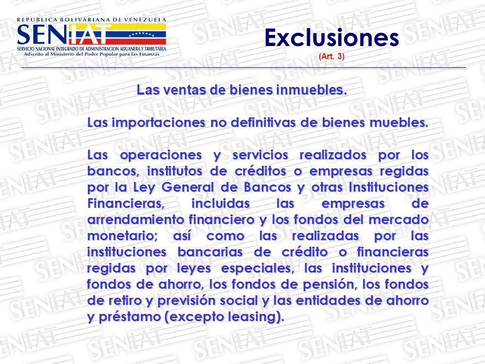 Exclusiones (Art.