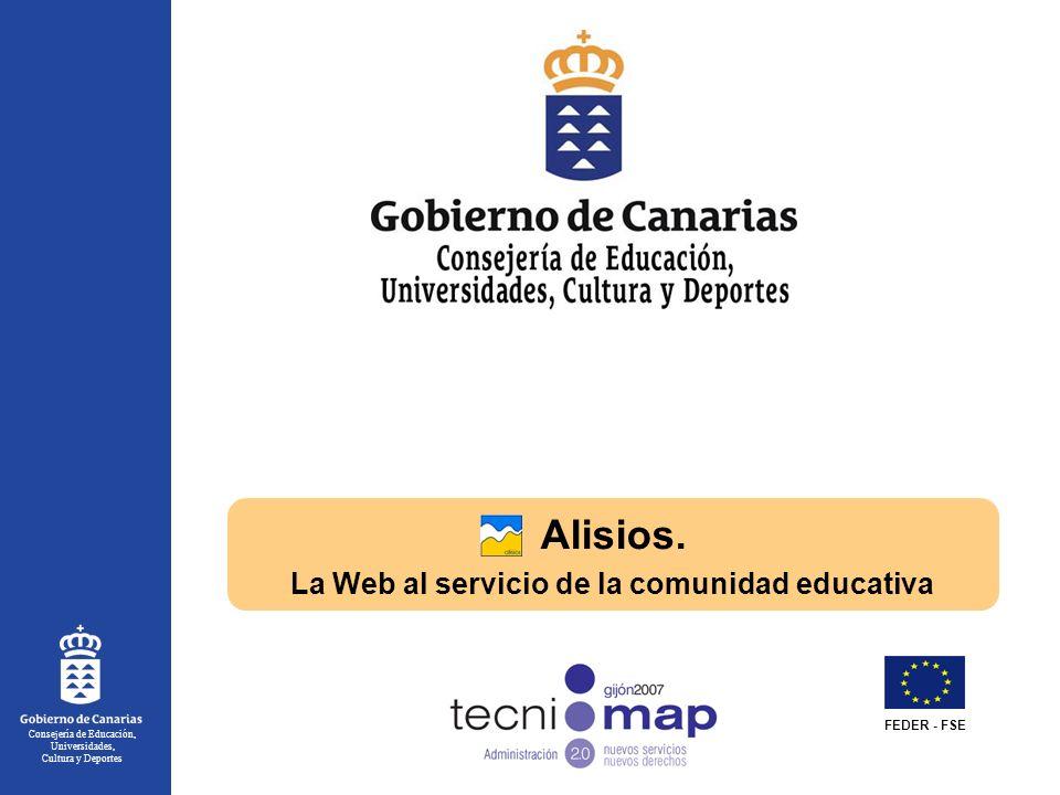 Consejería de Educación, Universidades, Cultura y Deportes Alisios.