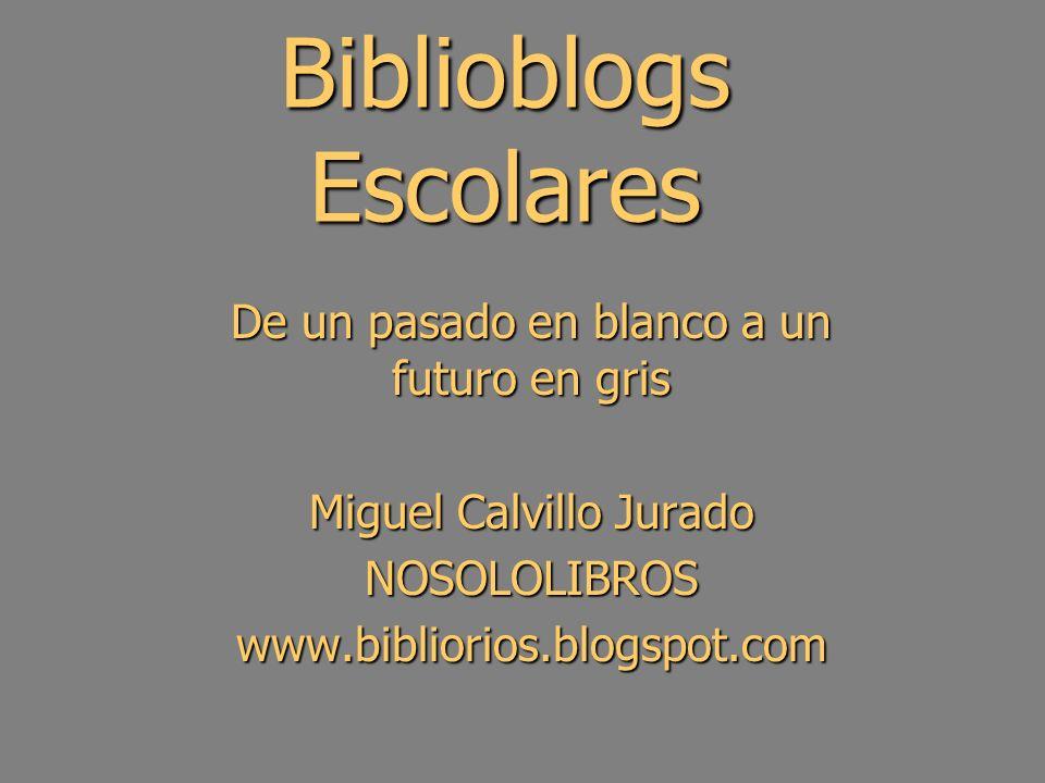Panorama de biblioblogs ESCOLARES ZONABIBLIOBLOGS ESCOLARES HABITANTESFUENTE GALICIA39767.524BIBLIOTECAS ESCOLARES DE GALICIA PUERTO RICO19994.259MAESTROS BIBLIOTECARIOS DE PUERTO RICO ANDALUCÍA68.039.399ELABORACIÓN PROPIA