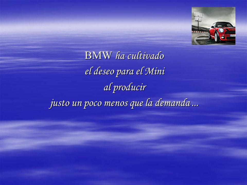 BMW ha cultivado el deseo para el Mini al producir justo un poco menos que la demanda...