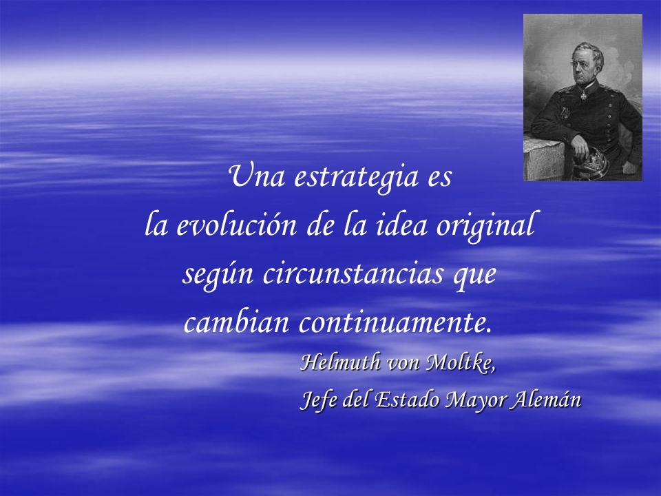 Una estrategia es la evolución de la idea original según circunstancias que cambian continuamente.