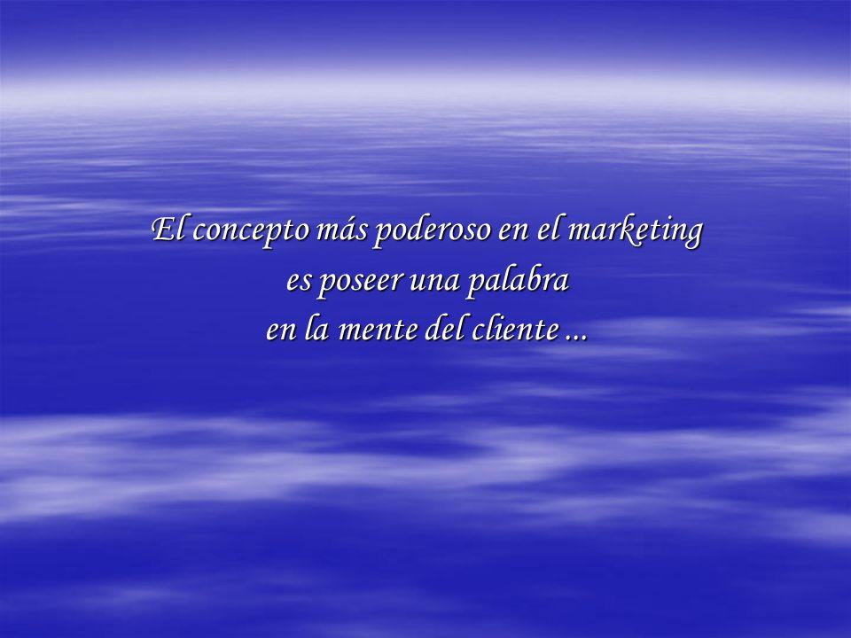 El concepto más poderoso en el marketing es poseer una palabra en la mente del cliente...