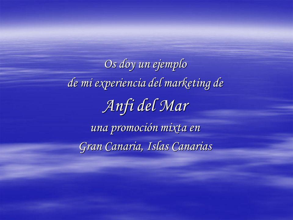 Os doy un ejemplo de mi experiencia del marketing de Anfi del Mar una promoción mixta en Gran Canaria, Islas Canarias