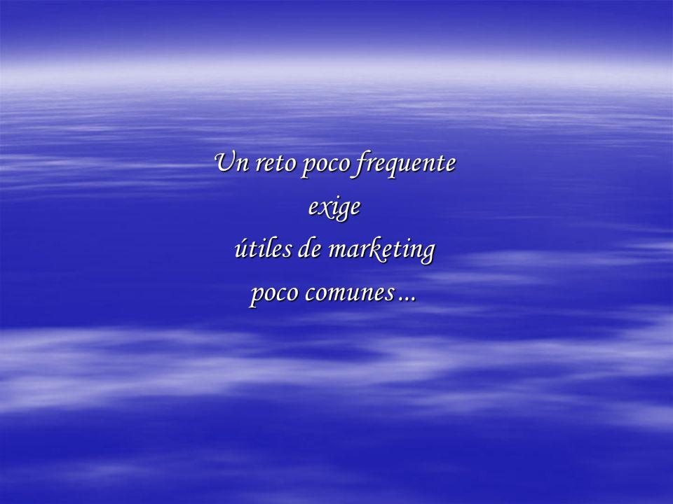 Un reto poco frequente exige útiles de marketing poco comunes...