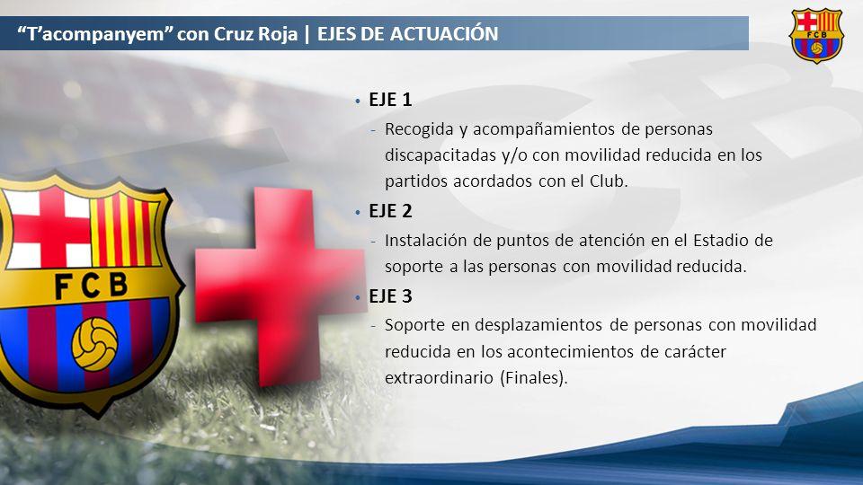 EJE 1 Recogida y acompañamientos de personas discapacitadas y/o con movilidad reducida en los partidos acordados con el Club.