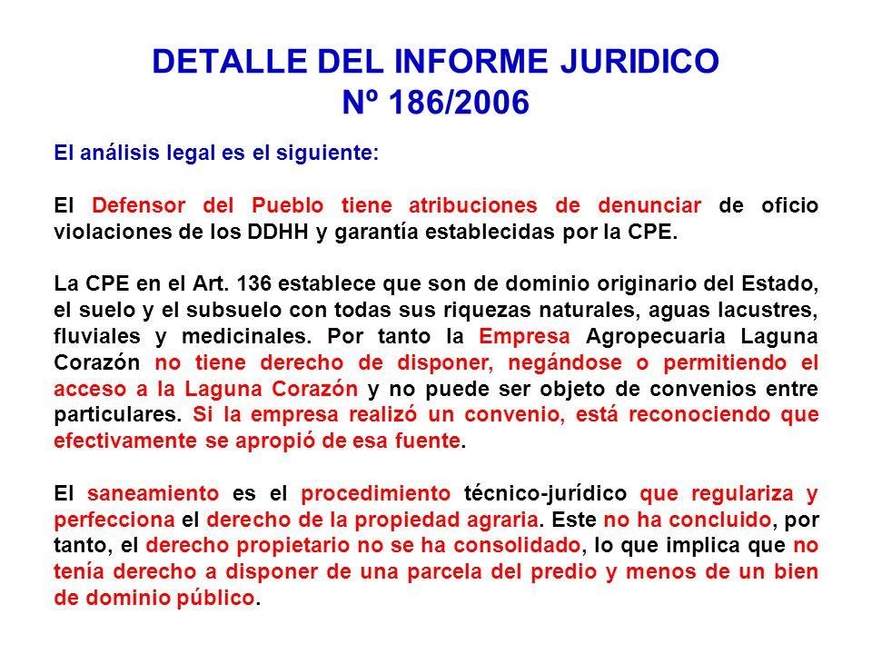 El análisis legal es el siguiente: El Defensor del Pueblo tiene atribuciones de denunciar de oficio violaciones de los DDHH y garantía establecidas po