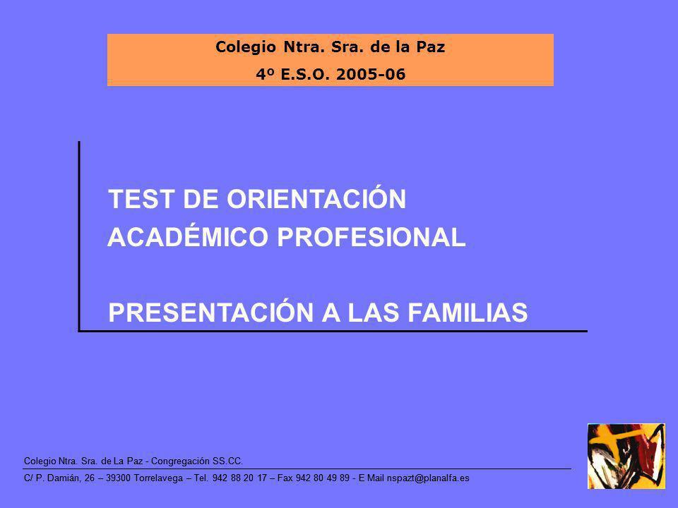 Colegio Ntra.Sra. de La Paz - Congregación SS.CC.