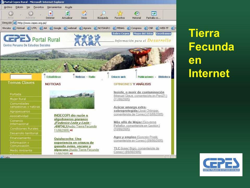 Tierra Fecunda en Internet