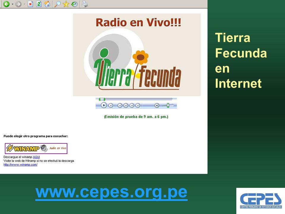 Tierra Fecunda en Internet www.cepes.org.pe