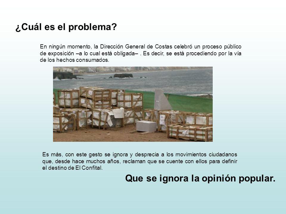 ¿Cuál es el problema. Que se ignora la opinión popular.
