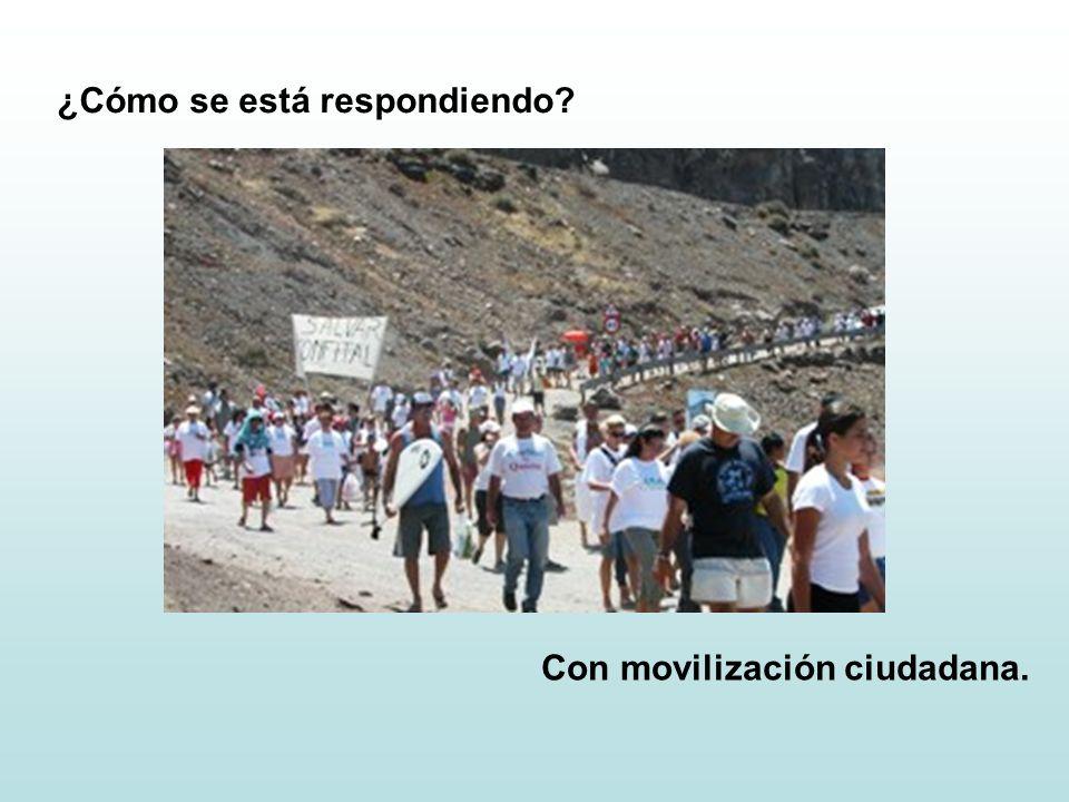 ¿Cómo se está respondiendo Con movilización ciudadana.