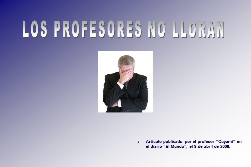Artículo publicado por el profesor Cuyami en el diario El Mundo, el 8 de abril de 2008. Artículo publicado por el profesor Cuyami en el diario El Mund