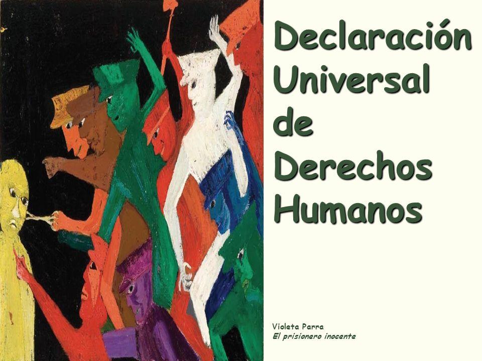 Declaración Universal de Derechos Humanos Adoptada y proclamada por la Asamblea General en su resolución 217 A (III), de 10 de diciembre de 1948 Preámbulo Considerando que la libertad, la justicia y la paz en el mundo tienen por base el reconocimiento de la dignidad intrínseca y de los derechos iguales e inalienables de todos los miembros de la familia humana, Considerando que el desconocimiento y el menosprecio de los derechos humanos han originado actos de barbarie ultrajantes para la conciencia de la humanidad; y que se ha proclamado, como la aspiración más elevada del hombre, el advenimiento de un mundo en que los seres humanos, liberados del temor y de la miseria, disfruten de la libertad de palabra y de la libertad de creencias,