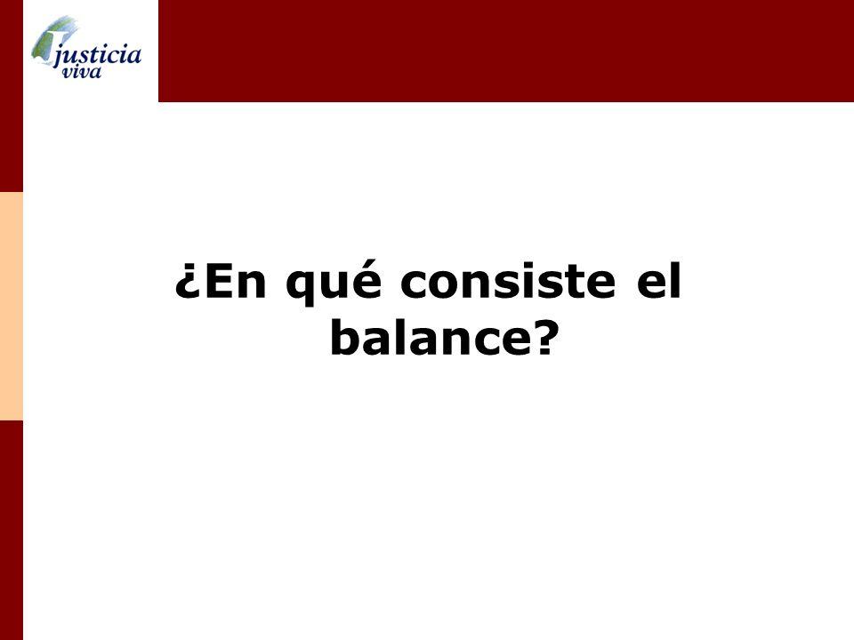 ¿En qué consiste el balance?