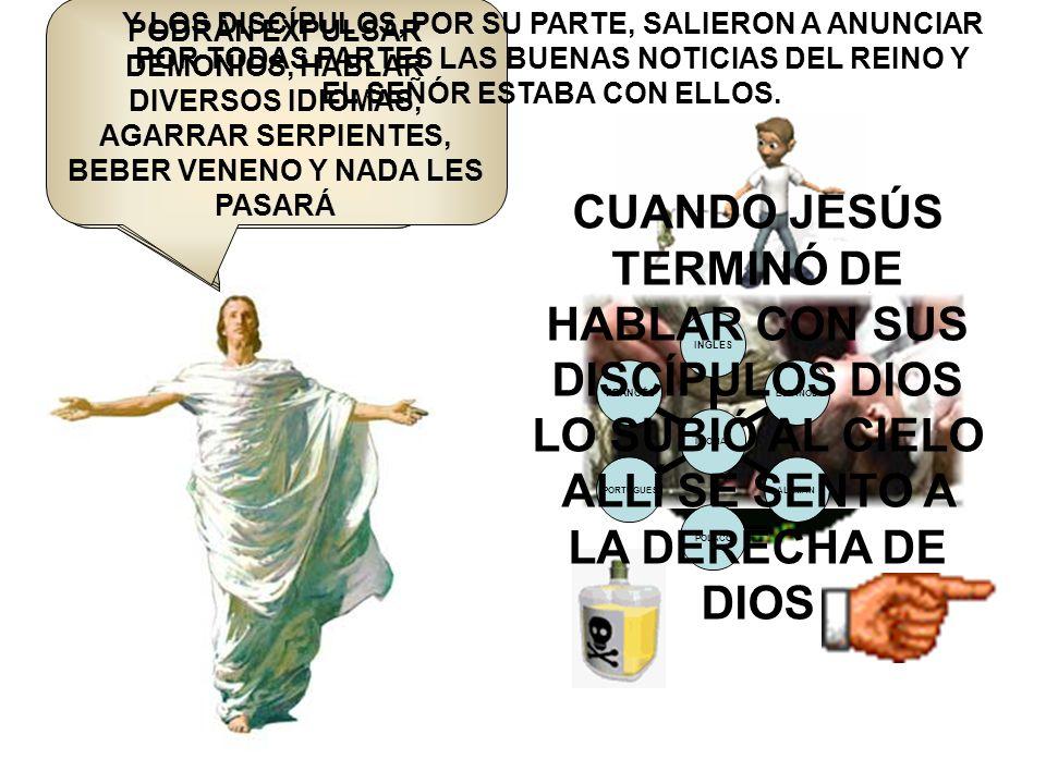 Jesus les dijo: VAYAN POR TODOS LOS PAÍSES DEL MUNDO Y ANUNCIEN LA BUENA NOTICIA A TODOS.