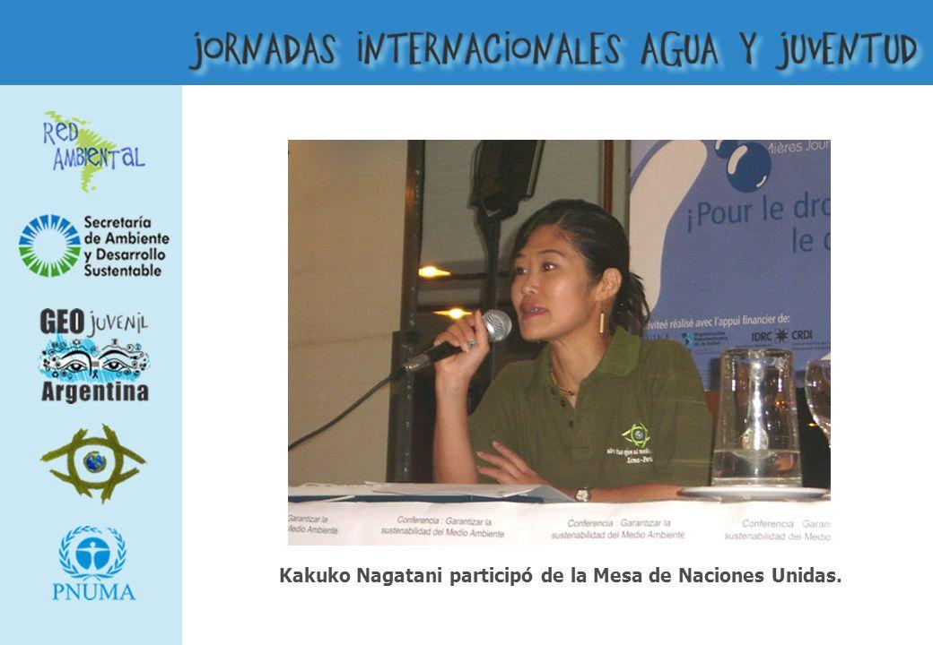 Kakuko Nagatani participó de la Mesa de Naciones Unidas.