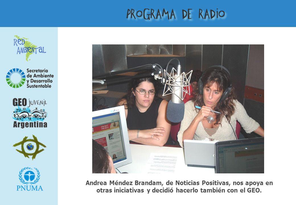 Andrea Méndez Brandam, de Noticias Positivas, nos apoya en otras iniciativas y decidió hacerlo también con el GEO.