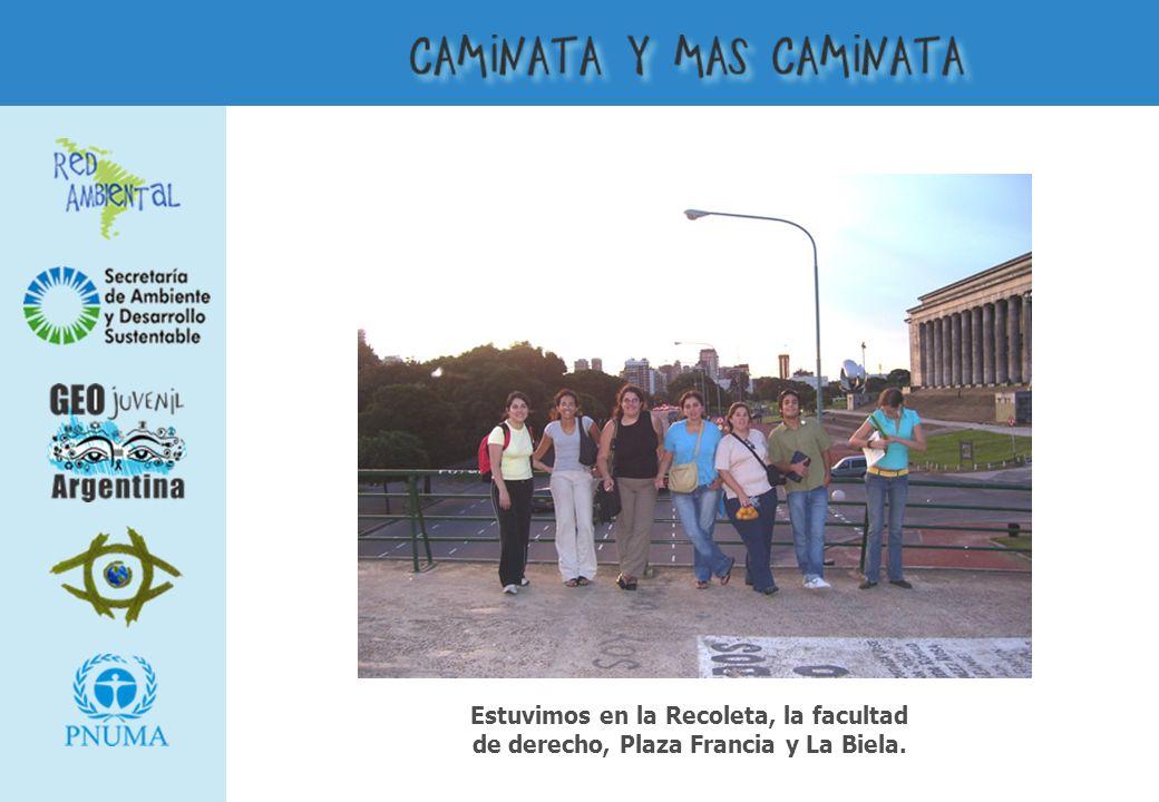 Estuvimos en la Recoleta, la facultad de derecho, Plaza Francia y La Biela.