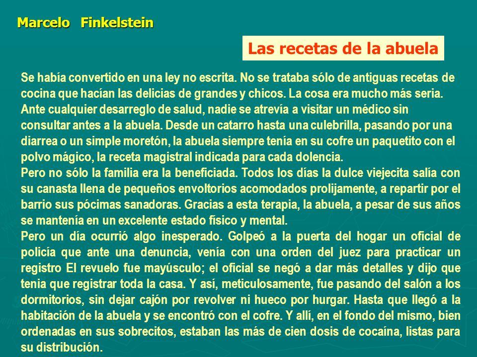 MarceloFinkelstein Marcelo Finkelstein Se había convertido en una ley no escrita.