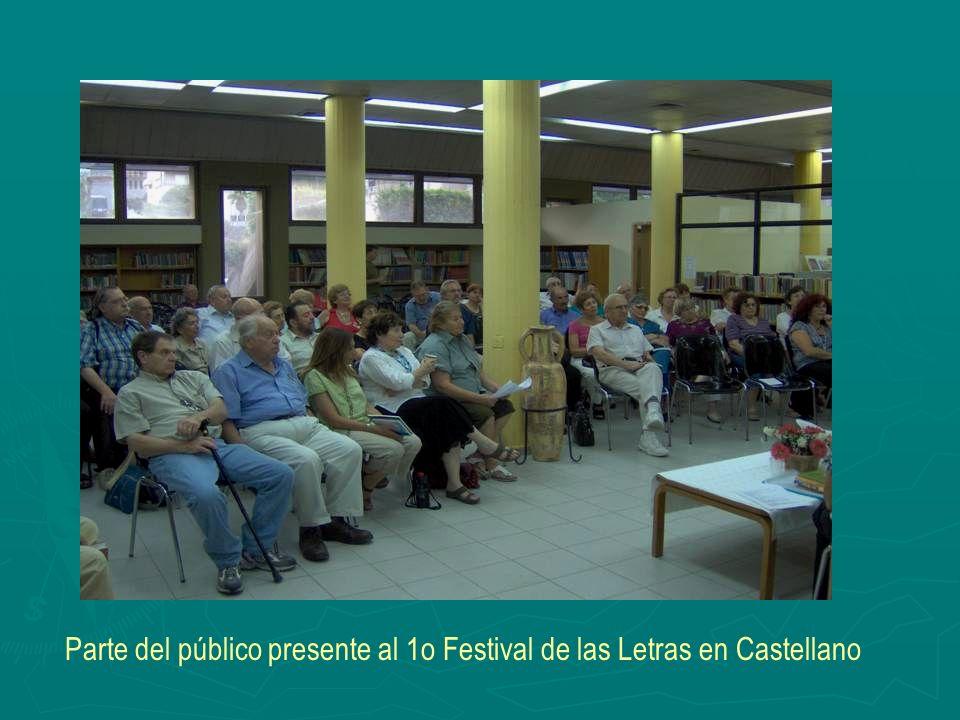 Parte del público presente al 1o Festival de las Letras en Castellano