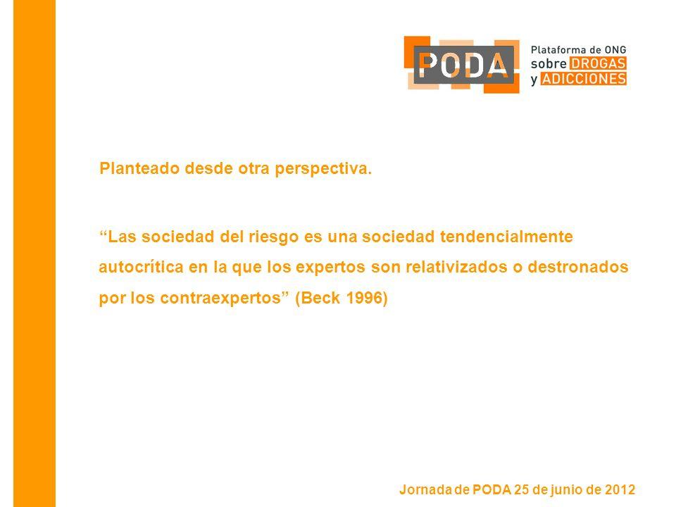 Jornada de PODA 25 de junio de 2012 Planteado desde otra perspectiva.