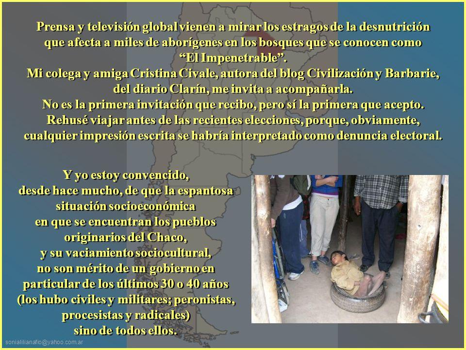 sonialilianafio@yahoo.com.ar Es un genocidio encubierto desde hace 500 años hasta el día de la fecha.