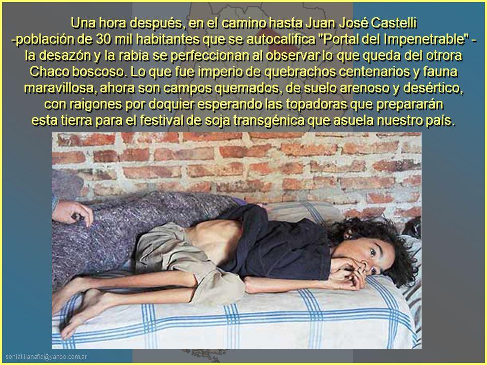 sonialilianafio@yahoo.com.ar Primero nos detenemos en Sáenz Peña, la segunda ciudad del Chaco (90 mil habitantes), para una visita clandestina -no pedida ni autorizada- al Hospital Ramón Carrillo, el segundo más importante de esta provincia.