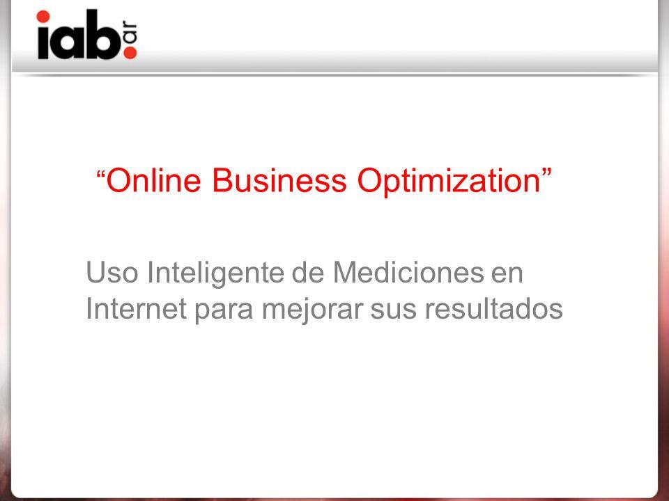 Online Business Optimization Uso Inteligente de Mediciones en Internet para mejorar sus resultados