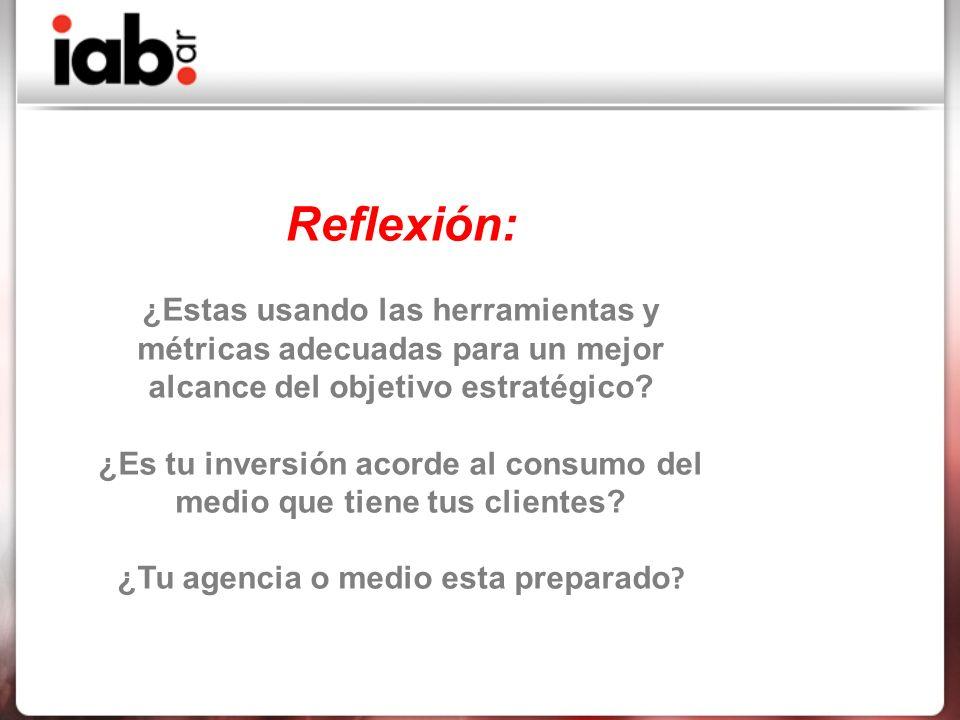 Reflexión: ¿Estas usando las herramientas y métricas adecuadas para un mejor alcance del objetivo estratégico.