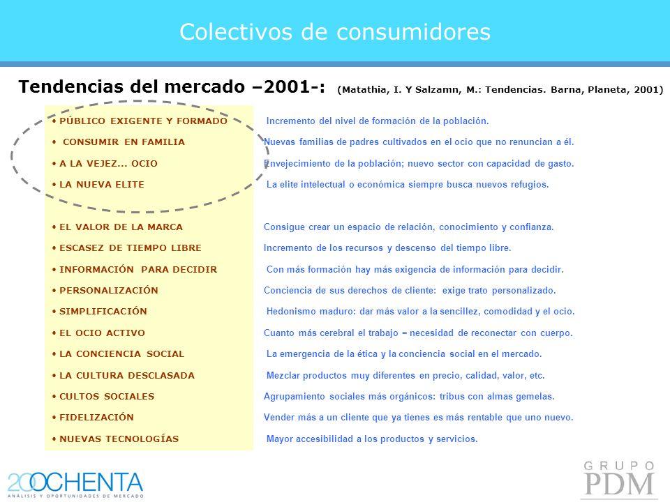 Colectivos de consumidores PÚBLICO EXIGENTE Y FORMADO CONSUMIR EN FAMILIA A LA VEJEZ...