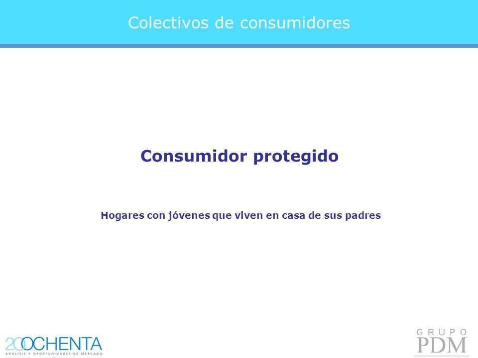 Colectivos de consumidores Consumidor protegido Hogares con jóvenes que viven en casa de sus padres