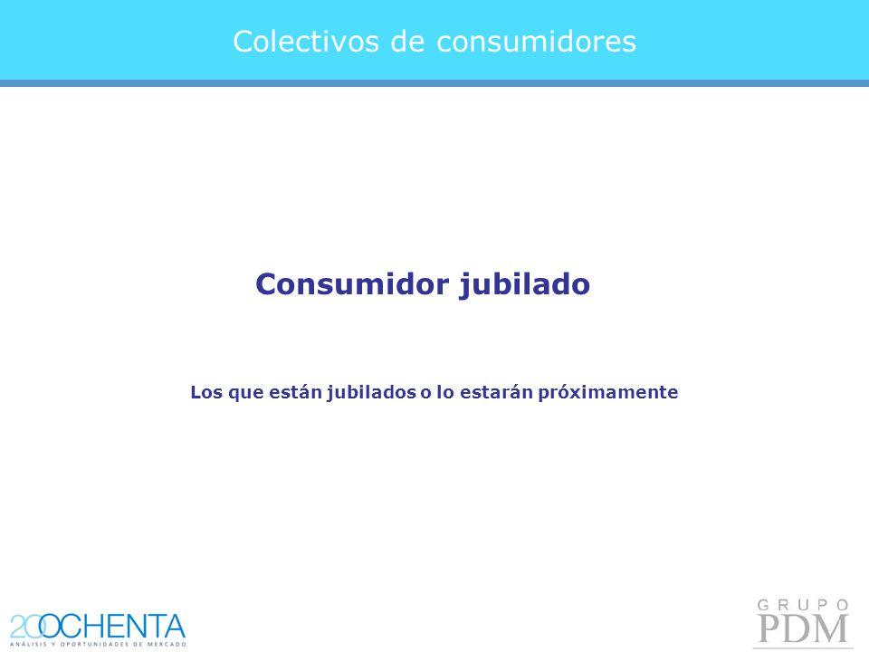 Colectivos de consumidores Consumidor jubilado Los que están jubilados o lo estarán próximamente