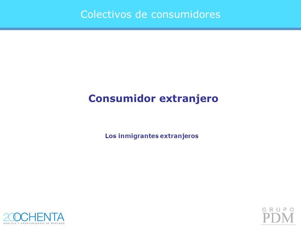 Colectivos de consumidores Consumidor extranjero Los inmigrantes extranjeros