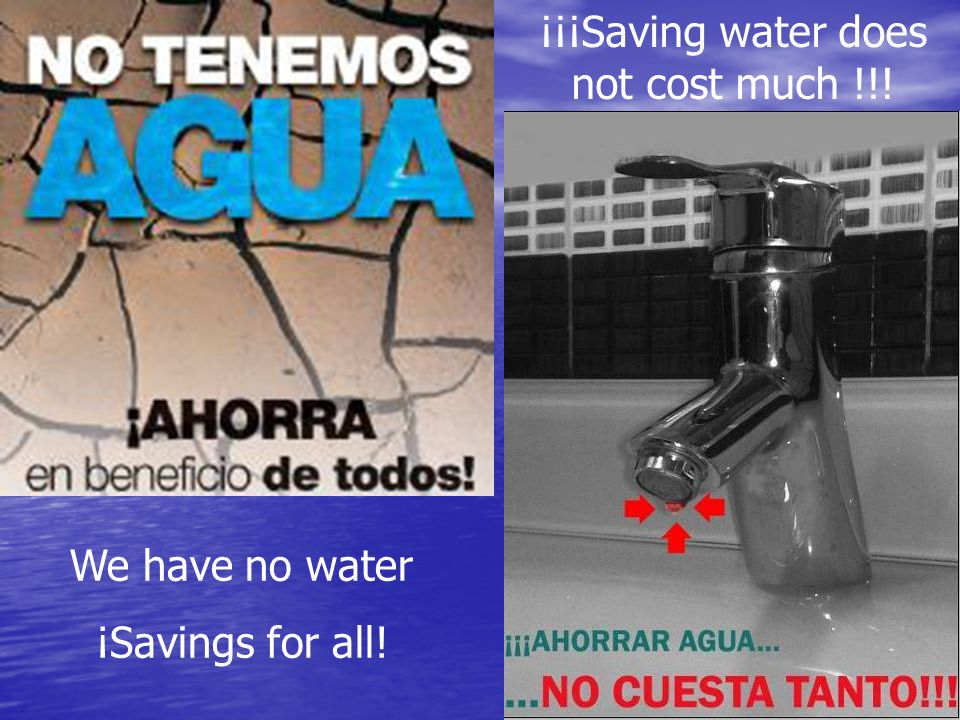 Saving water is in our hands.