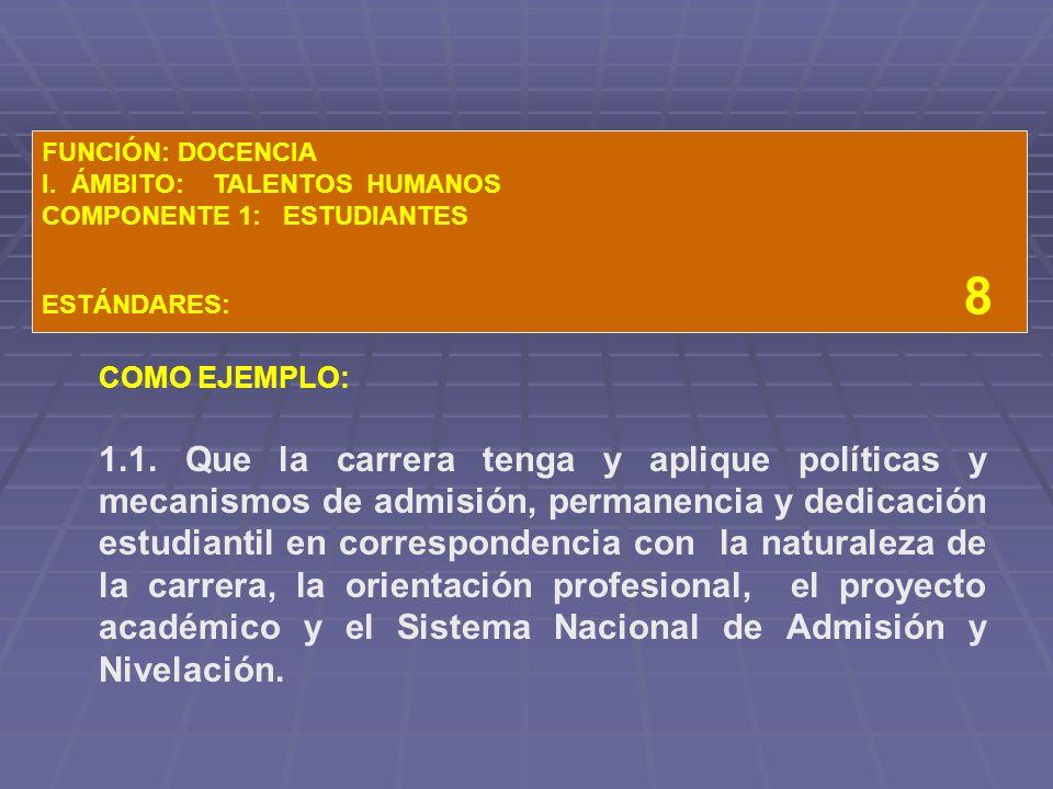 FUNCIÓN: DOCENCIA I.