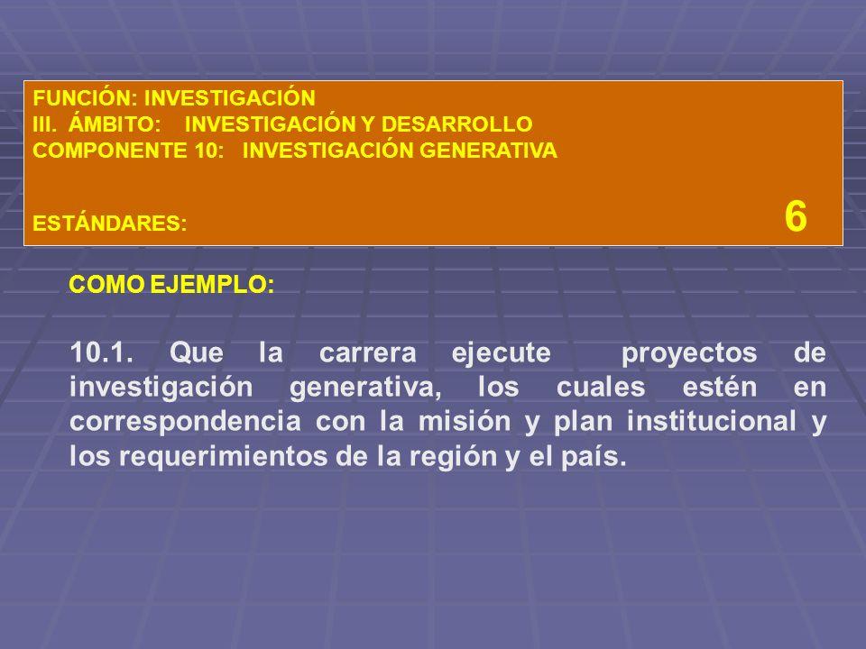 FUNCIÓN: INVESTIGACIÓN III.