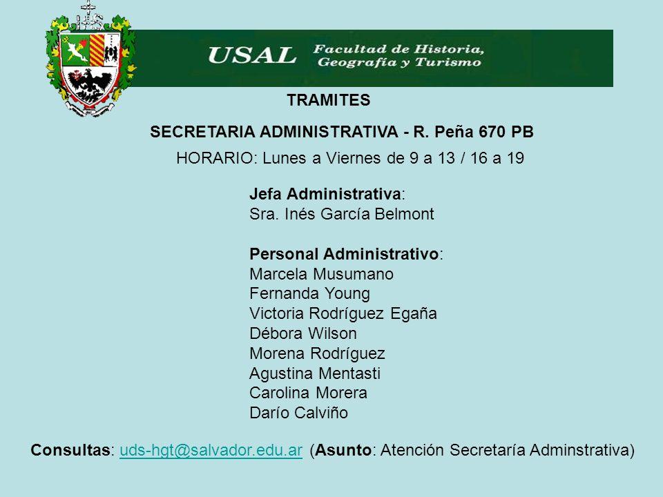 TRAMITES SECRETARIA ADMINISTRATIVA - R.