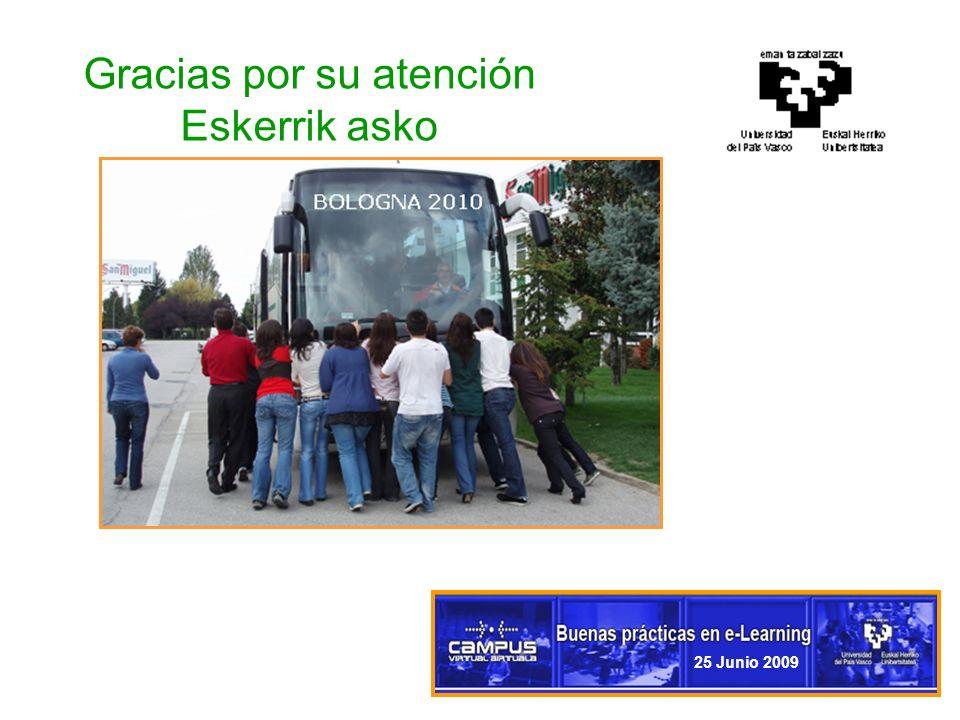 11 Gracias por su atención Eskerrik asko 25 Junio 2009