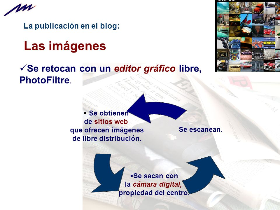 La publicación en el blog: Las imágenes Se obtienen de sitios web que ofrecen imágenes de libre distribución.