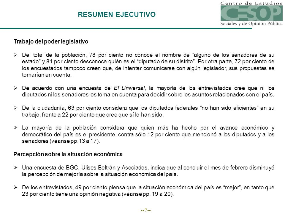 --18-- EVALUACIÓN DE LA ECONOMÍA