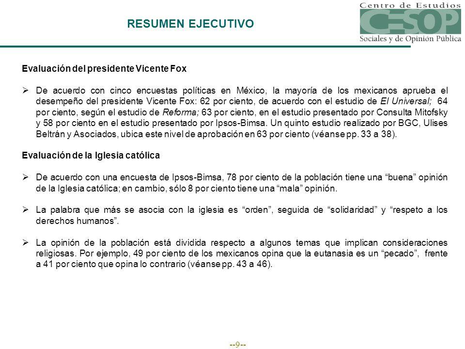 --90-- El Centro de Estudios Sociales y de Opinión Pública lo invita a visitarnos en nuestra dirección electrónica http://www.diputados.gob.mx/cesop/