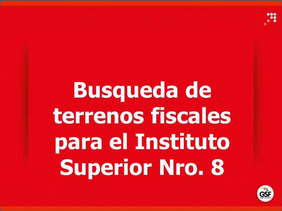 Busqueda de terrenos fiscales para el Instituto Superior Nro. 8