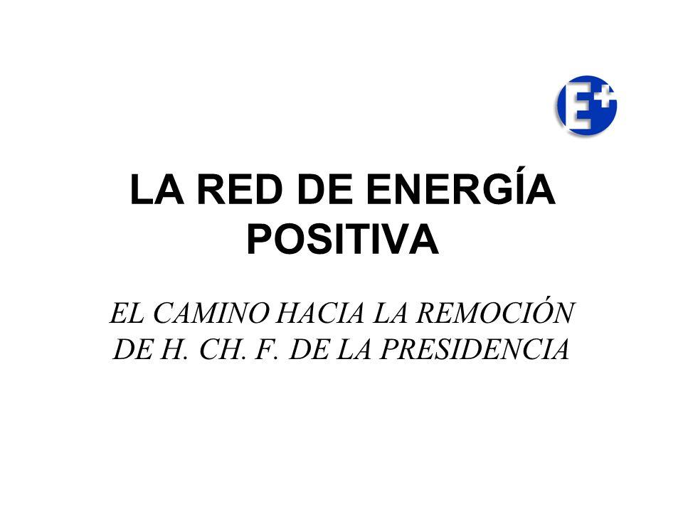 LA RED DE ENERGÍA POSITIVA EL CAMINO HACIA LA REMOCIÓN DE H. CH. F. DE LA PRESIDENCIA