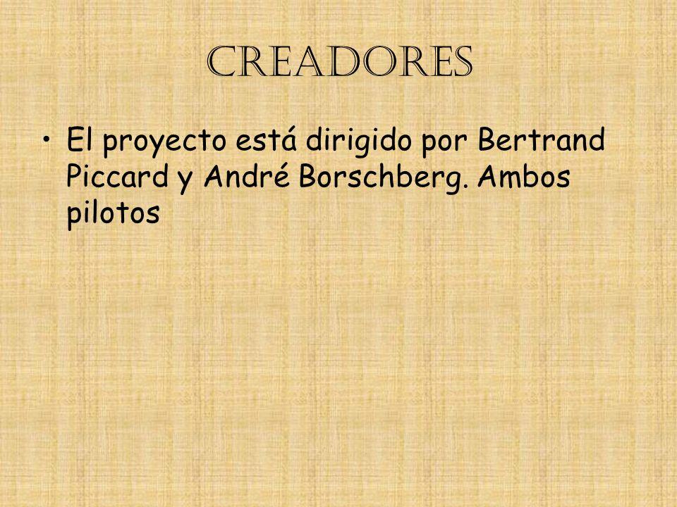 CREADORES El proyecto está dirigido por Bertrand Piccard y André Borschberg. Ambos pilotos