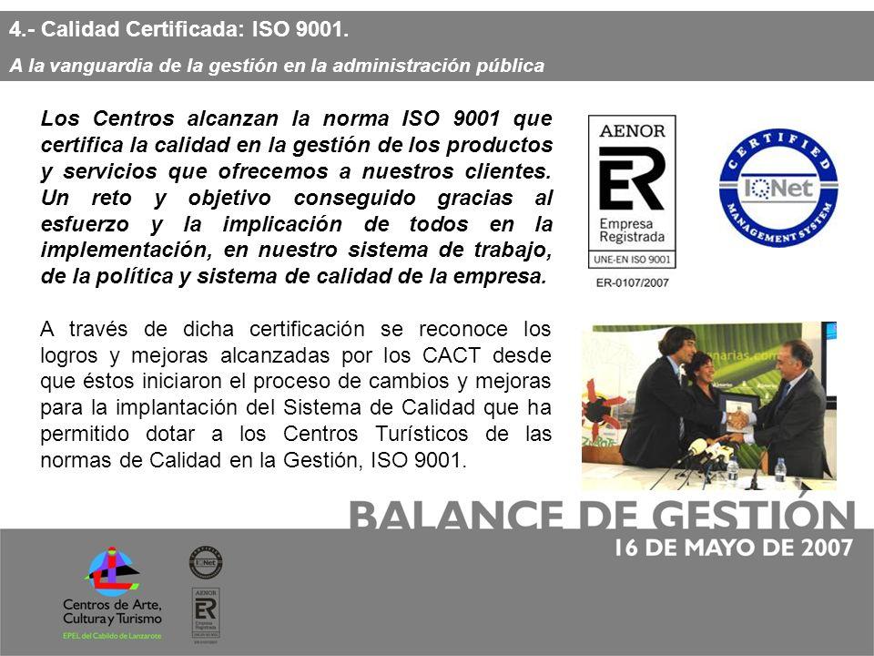 4.- Calidad Certificada: ISO 9001.