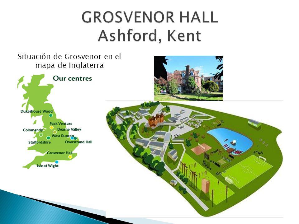 Situación de Grosvenor en el mapa de Inglaterra